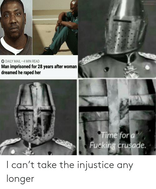 i can: I can't take the injustice any longer