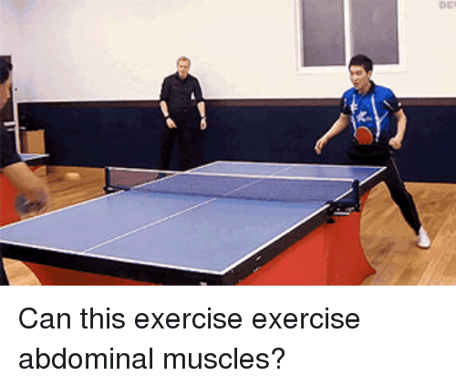Exercise, Can, and Abdominal Muscles: I