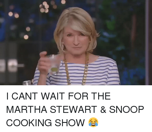 Funny, Snoop, and Martha Stewart: I CANT WAIT FOR THE MARTHA STEWART & SNOOP COOKING SHOW 😂