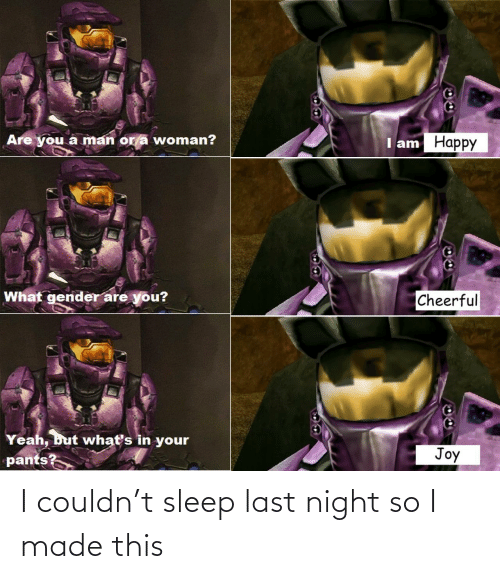 night: I couldn't sleep last night so I made this