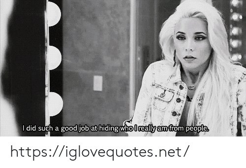 Good, Net, and Job: I did such a good job at hiding who really am from people https://iglovequotes.net/