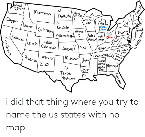 To Name: i did that thing where you try to name the us states with no map