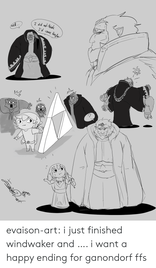 Tumblr, Blog, and Happy: I did uothink  I'd come ths ar evaison-art:  i just finished windwaker and…. i want a happy ending for ganondorf ffs