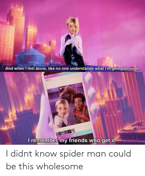 Didnt: I didnt know spider man could be this wholesome