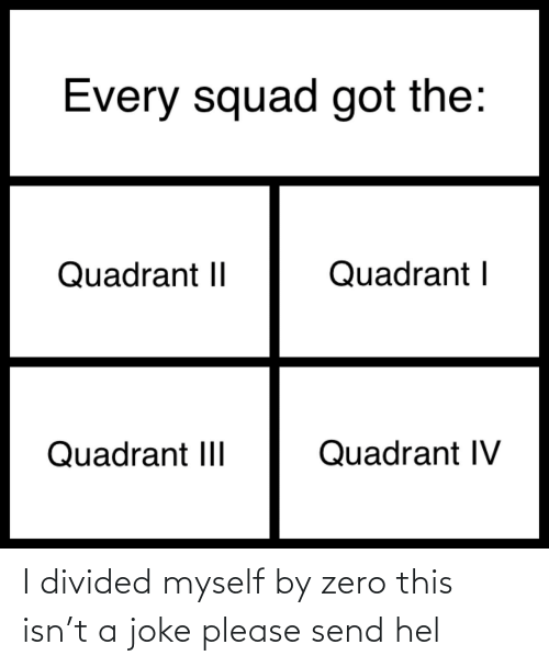 Divided: I divided myself by zero this isn't a joke please send hel