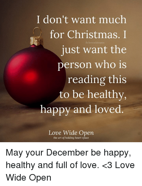 I Dont Want Anything For Christmas.I Don T Want Much For Christmas I Fbnavewideopen Just Want