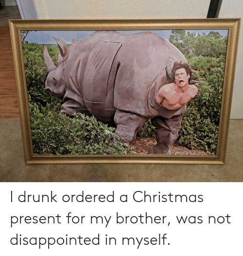 Was Not Disappointed: I drunk ordered a Christmas present for my brother, was not disappointed in myself.