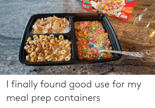 Found: I finally found good use for my meal prep containers