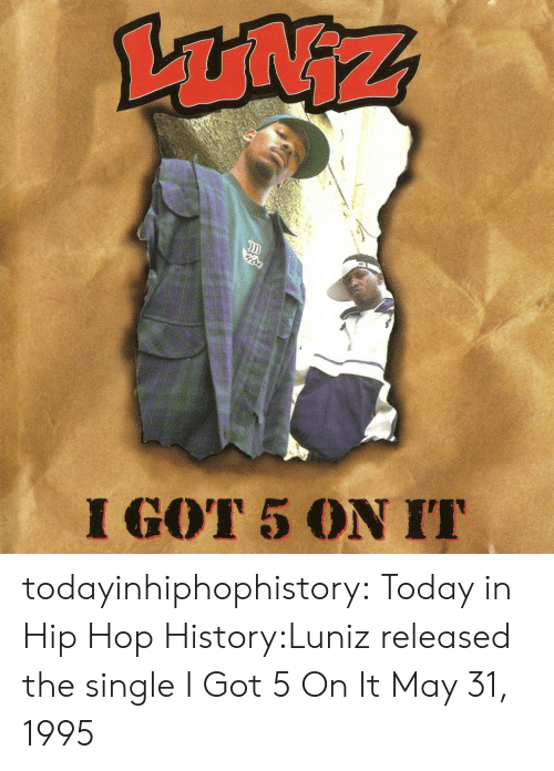 Its May: I GOT 5 ON I todayinhiphophistory:  Today in Hip Hop History:Luniz released the single I Got 5 On It May 31, 1995