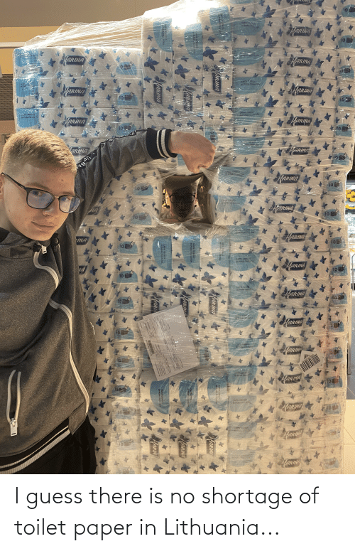 Lithuania: I guess there is no shortage of toilet paper in Lithuania...