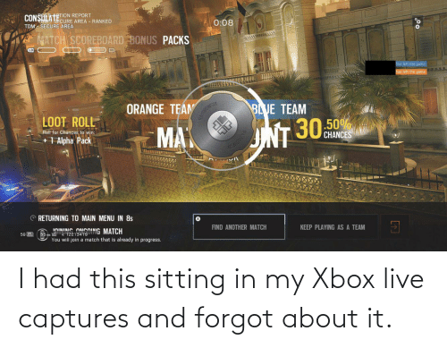 xbox live: I had this sitting in my Xbox live captures and forgot about it.