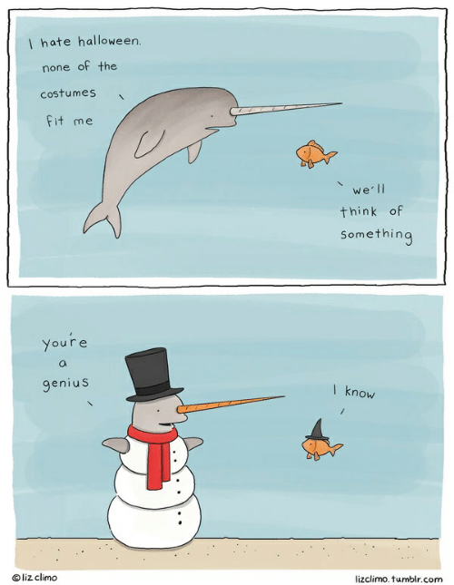 Lizclimo Tumblr: I hate halloween.  none of the  Costumes  fit me  werll  think of  Something  Youre  O  genius  I know  Oliz climo  lizclimo. tumblr.com
