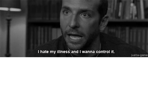 Control, Game, and Hate: I hate my illness and I wanna control it.  justa-game