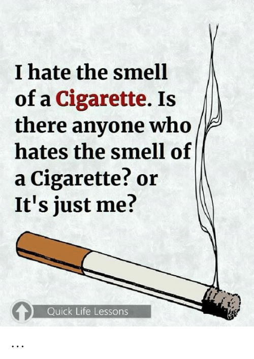 Life, Memes, and Smell: I hate the smell  of a Cigarette. Is  there anyone who  hates the smell of  a Cigarette? or  It's just me?  Quick Life Lessons ...