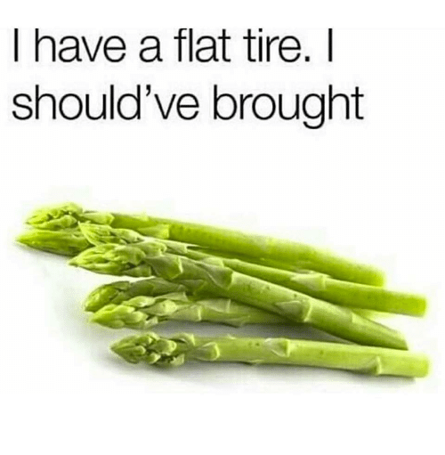 Flat Tire,  Tire, and Flat: I have a flat tire.I  should've brought