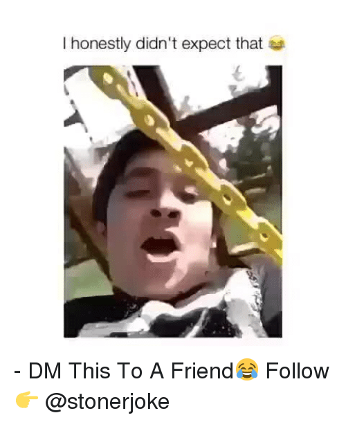Memes, 🤖, and Friend: I honestly didn't expect that - DM This To A Friend😂 Follow 👉 @stonerjoke