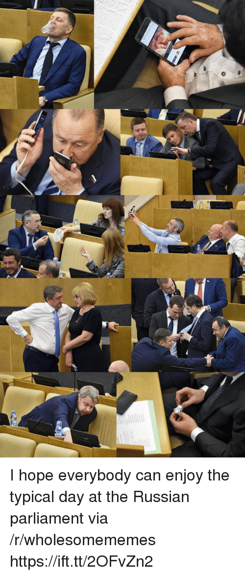 Russian, Hope, and Can: I hope everybody can enjoy the typical day at the Russian parliament via /r/wholesomememes https://ift.tt/2OFvZn2