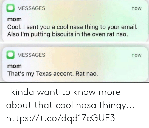 About That: I kinda want to know more about that cool nasa thingy... https://t.co/dqd17cGUE3