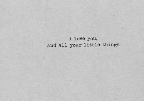 Love, I Love You, and All: i love you  and all your little things