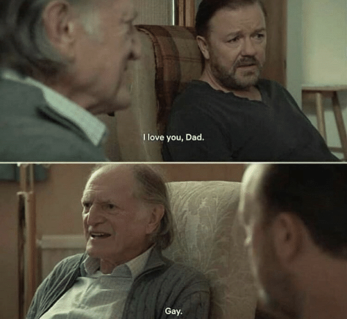 Dad, Love, and I Love You: I love you, Dad.  Gay.