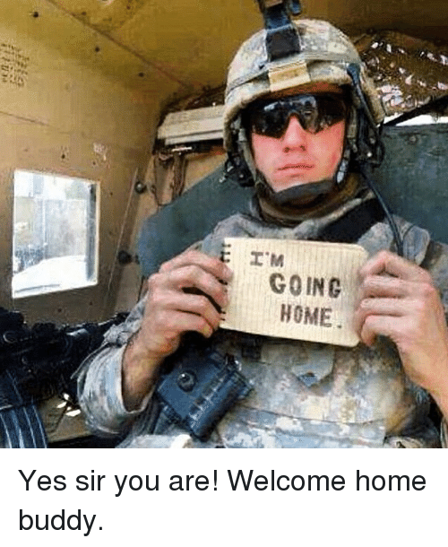 Memes, Home, and 🤖: I M  GOING  HOME Yes sir you are! Welcome home buddy.