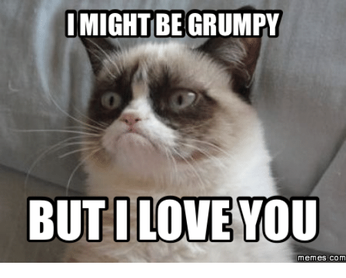 but I Love You, Grumpy, and You-Meme: I MIGHT BE GRUMPY  BUT I LOVE YOU  memes. COM