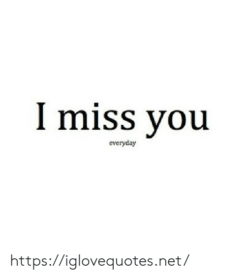 Net, You, and Miss: I miss you  everyday https://iglovequotes.net/