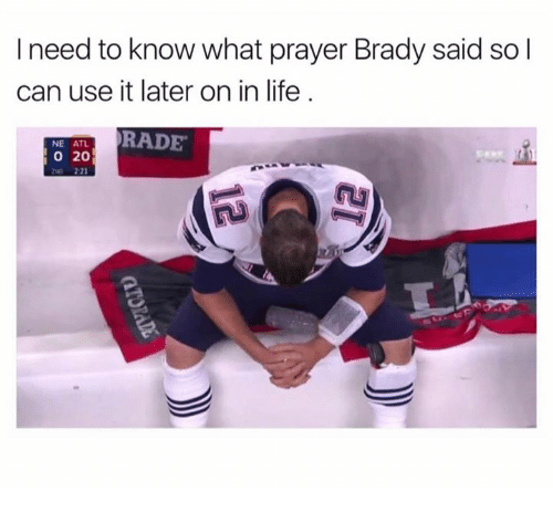 Atl, Usings, and Use: I need to know what prayer Brady said so l  can use it later on in life  RADE  NE ATL.  O 20  221