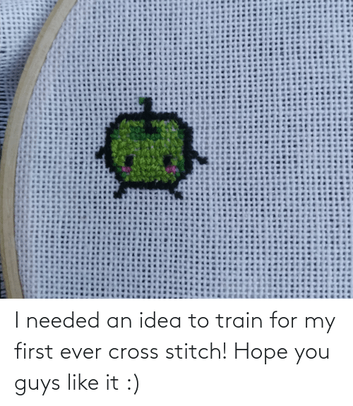 Train: I needed an idea to train for my first ever cross stitch! Hope you guys like it :)