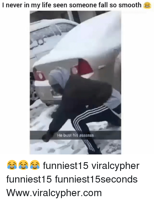 So Smooth: I never in my life seen someone fall so smooth  He bust his assssss 😂😂😂 funniest15 viralcypher funniest15 funniest15seconds Www.viralcypher.com