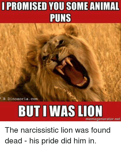 Memes, Puns, and Lion: I PROMISED YOU SOME ANIMAL PUNS .B Dinosoria