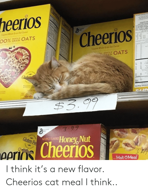 Think It: I think it's a new flavor. Cheerios cat meal I think..