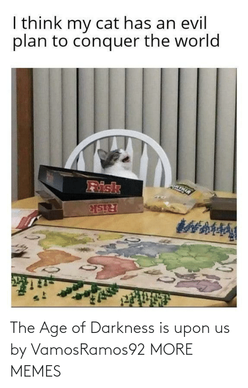 Age Of: I think my cat has an evil  plan to conquer the world  Risk  Risk The Age of Darkness is upon us by VamosRamos92 MORE MEMES