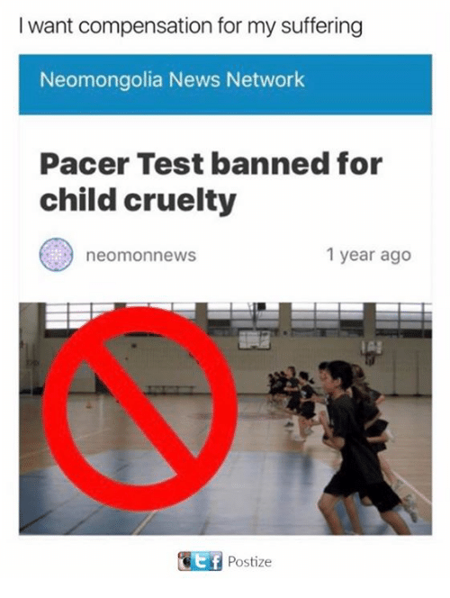 News, Pacer, and Test: I want compensation for my suffering  Neomongolia News Network  Pacer Test banned for  child cruelty  1 year ago  neom news  IA!  Postize
