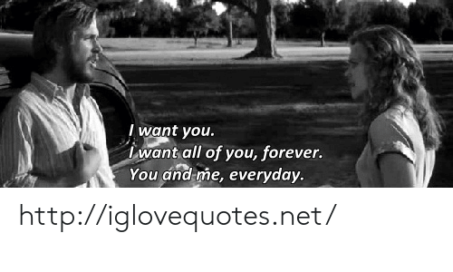 Forever, Http, and Net: I want you  want all of you, forever.  You and me, everyday http://iglovequotes.net/