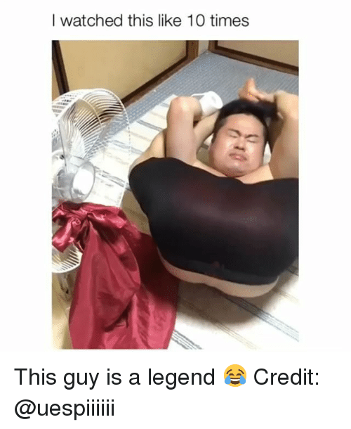 Memes, 🤖, and Legend: I watched this like 10 times This guy is a legend 😂 Credit: @uespiiiiii
