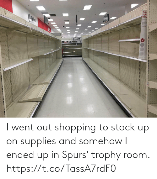 Shopping, Soccer, and Spurs: I went out shopping to stock up on supplies and somehow I ended up in Spurs' trophy room. https://t.co/TassA7rdF0