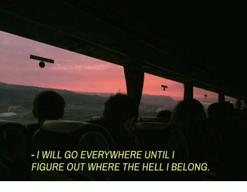 I Will Go: I WILL GO EVERYWHERE UNTILI  FIGURE OUT WHERE THE HELL I BELONG
