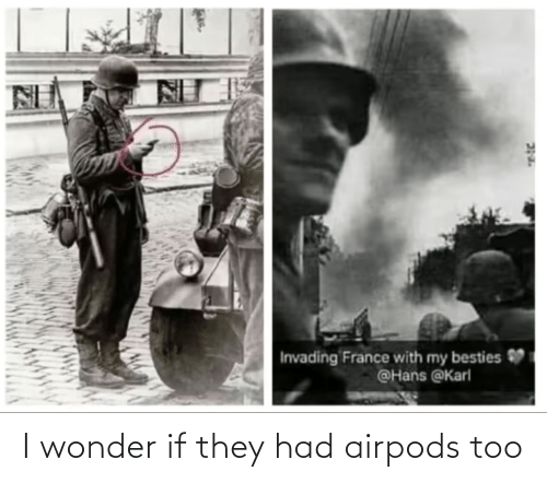 Wonder: I wonder if they had airpods too