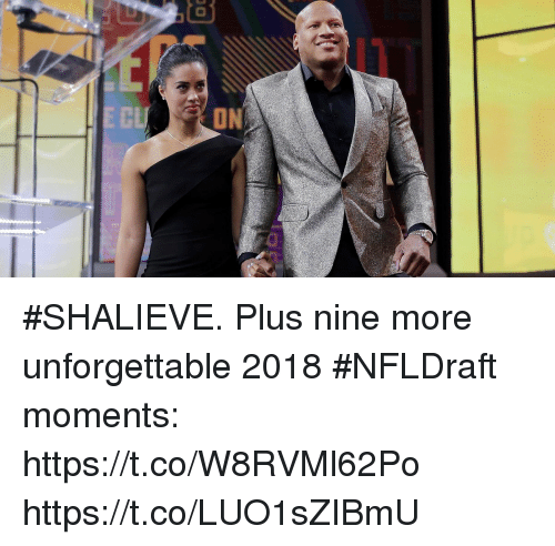 Memes, 🤖, and Unforgettable: i1  CL  ON #SHALIEVE.  Plus nine more unforgettable 2018 #NFLDraft moments: https://t.co/W8RVMl62Po https://t.co/LUO1sZIBmU
