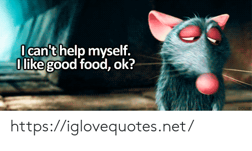 Food, Good, and Net: Ican'thelp myself.  O like good food, ok?  DOUXE https://iglovequotes.net/