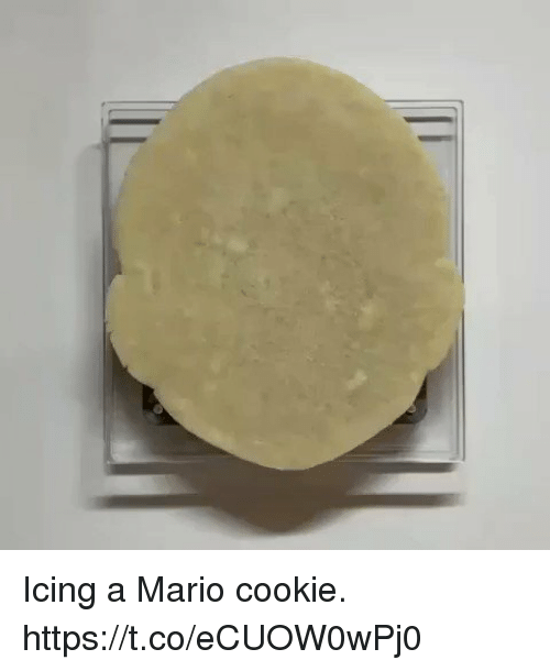 icing: Icing a Mario cookie. https://t.co/eCUOW0wPj0