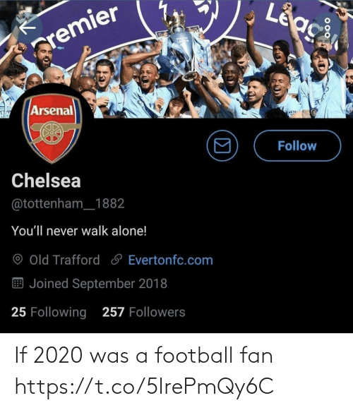 Football: If 2020 was a football fan https://t.co/5IrePmQy6C