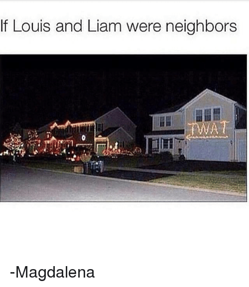 Memes, Neighbors, and 🤖: If Louis and Liam were neighbors -Magdalena