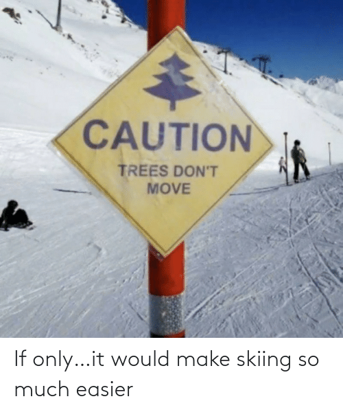 Easier: If only…it would make skiing so much easier