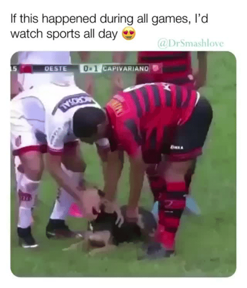 Sports, Games, and Watch: If this happened during all games, I'd  watch sports all day  @DrSmashlove  5  OESTE  0 1  CAPIVARIAND