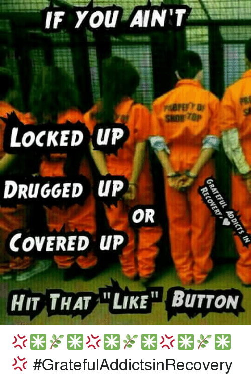 Drugs, Memes, and Covers: IF You AIN'T  LOCKED up  DRuGGED up  OR  COVERED up  HIT THAT LIKE BuTTON 💢✳🌿✳💢✳🌿✳💢✳🌿✳💢 #GratefulAddictsinRecovery