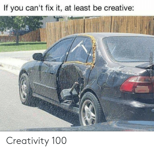 Anaconda, You, and Creativity: If you can't fix it, at least be creative: Creativity 100