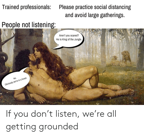 grounded: If you don't listen, we're all getting grounded