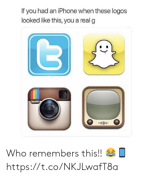 Logos: If you had an iPhone when these logos  looked like this, you a real g  Insta  川111' Who remembers this!! 😂📱 https://t.co/NKJLwafT8a